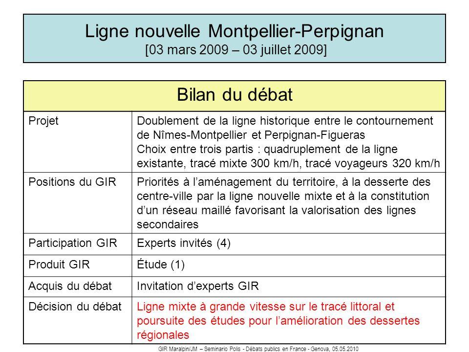 Ligne nouvelle Montpellier-Perpignan [03 mars 2009 – 03 juillet 2009]